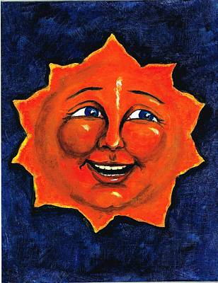Poster featuring the painting Sun by Sarah Farren