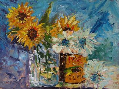 Sunflower Still Life Poster by Carol Berning