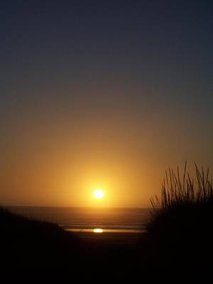 Poster featuring the photograph Sunset At Surfside 1 by Peter Mooyman