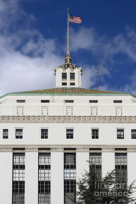 Supreme Court Of California . County Of Alameda . Oakland California View From Oakland Museum . 7d13 Poster