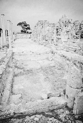 Swimming Pools In The Gymnasium And Baths In The Ancient Site Of Old Roman Villa Salamis Poster