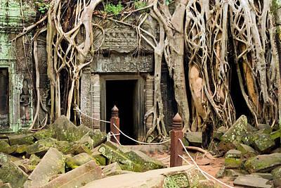 Ta Prohm Temple In Cambodia Poster by Artur Bogacki