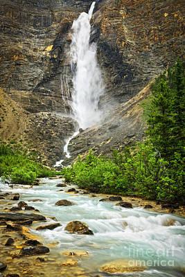 Takakkaw Falls Waterfall In Yoho National Park Canada Poster