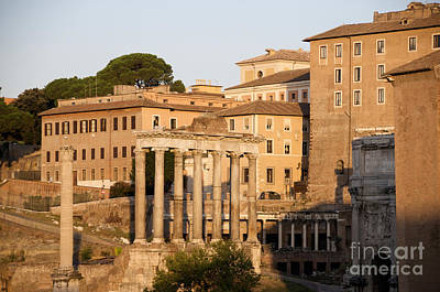 Temple Of Saturn In The Forum Romanum. Rome Poster