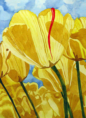 Poster featuring the painting Tender Tulips by Debi Singer