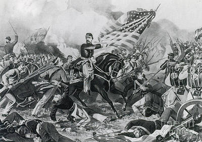 The Battle Of Williamsburg, 1862 Poster by Photo Researchers