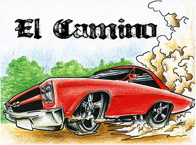 The El Camino Poster by Big Mike Roate