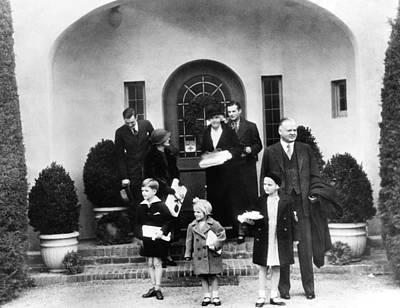 The Family Of Former President Herbert Poster