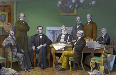The First Reading Of The Emancipation Poster by Everett