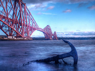 The Forth Rail Bridge Scotland Poster by Amanda Finan