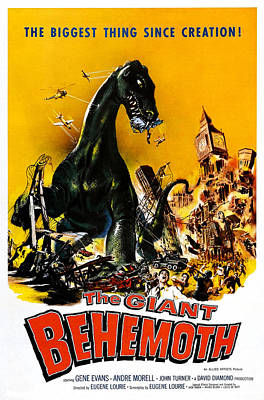 The Giant Behemoth, 1959 Poster by Everett
