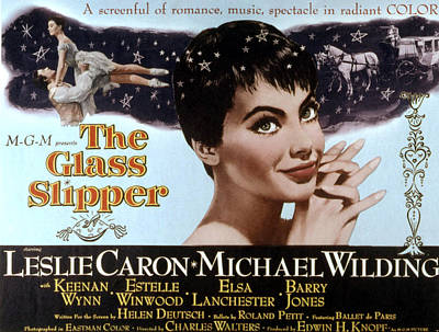 The Glass Slipper, Leslie Caron Poster by Everett
