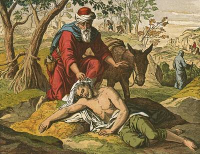 The Good Samaritan Poster by English School