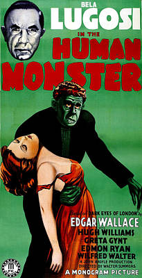 The Human Monster, Aka Dark Eyes Of Poster by Everett