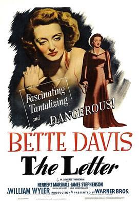 The Letter, Bette Davis, 1940 Poster by Everett