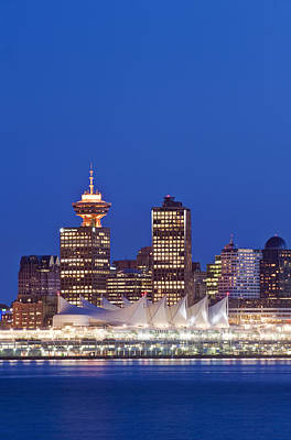 The Vancouver Skyline At Twilight Or Poster