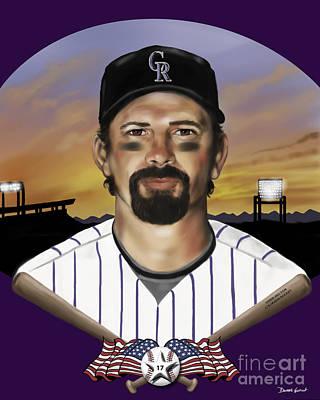 Todd Helton #17 Poster by Dwayne Glapion