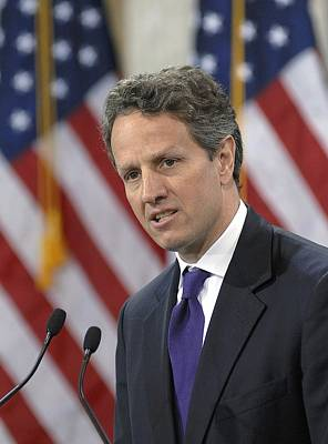 Treasury Secretary Timothy Geithner Poster