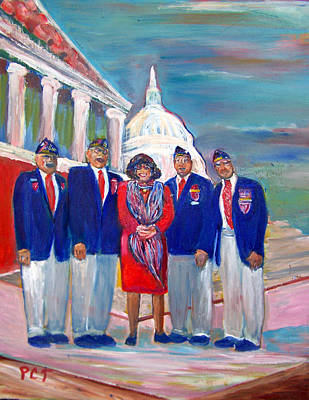 Tribute To Veterans Poster by Patricia Taylor