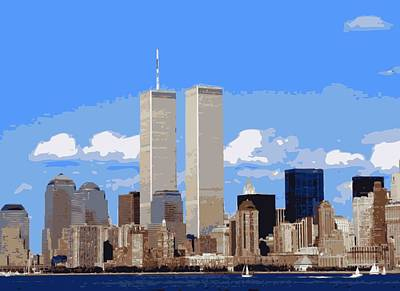Twin Towers Color 16 Poster