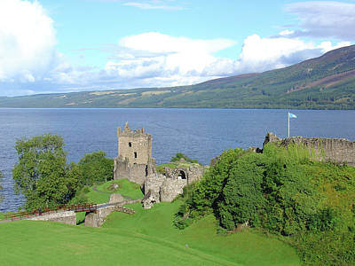Poster featuring the photograph Urquhart Castle by Charles and Melisa Morrison