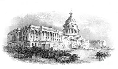 U.s. Capitol Poster by Granger