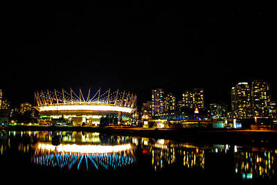 Vancouver By Night Poster