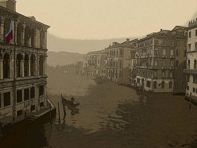 Poster featuring the photograph Venice by David Gleeson