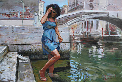 Viola In Venice Poster by Ylli Haruni