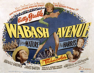 Wabash Avenue, Betty Grable, 1950 Poster