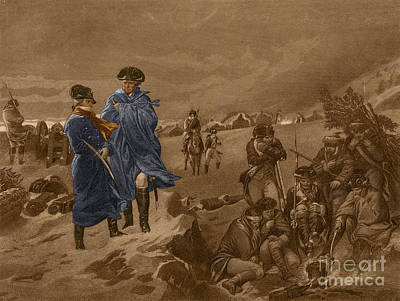 Washington And Lafayette, Valley Forge Poster