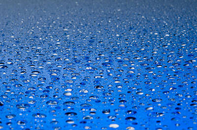 Water Drops On A Shiny Surface Poster