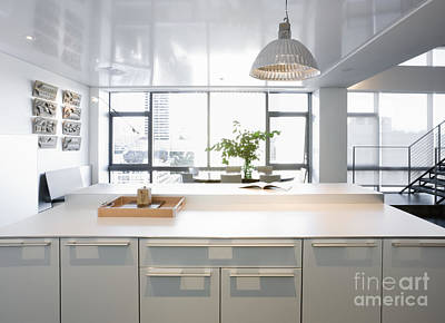 White Counters And Dining Area Poster by Andersen Ross