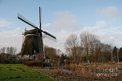 Windmill In Amsterdam Poster by Carol Ailles