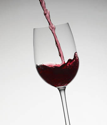 Wine Pouring Into Wine Glass Poster