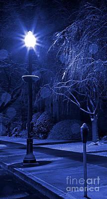 Winter Sidewalk Blues Poster by John Stephens