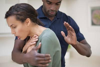 Woman Choking Poster