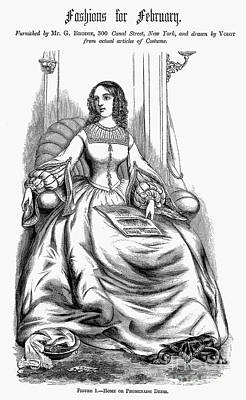 Womens Fashion, 1860 Poster