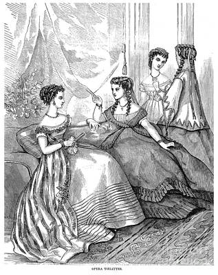 Womens Fashion, 1867 Poster