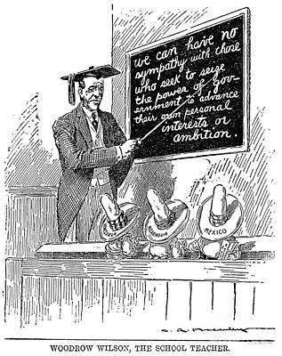 Woodrow Wilson Cartoon Poster