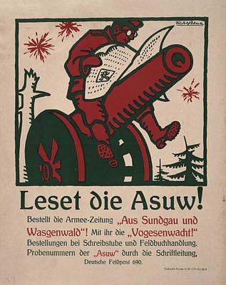 World War I, German Poster Shows Poster by Everett