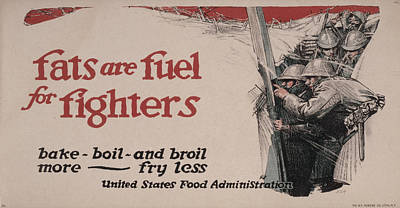 World War I, Poster Showing Soldiers Poster by Everett