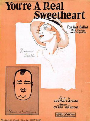 You're A Real Sweetheart Poster by Mel Thompson