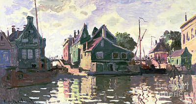 Zaandam Poster by Claude Monet