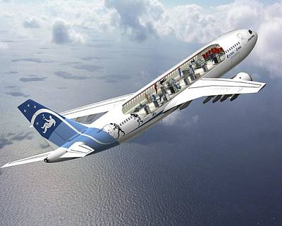 Zero-g Airbus Aircraft, Artwork Poster