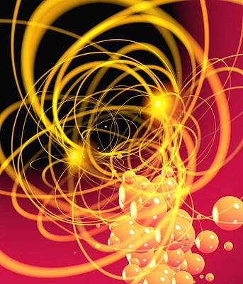 Subatomic Particles Abstract Poster
