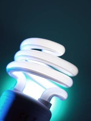 Energy Saving Light Bulb Poster by Tek Image