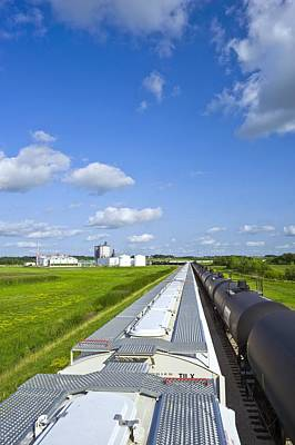 Corn Ethanol Processing Plant Poster