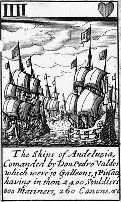 Spanish Armada, 1588 Poster by Granger