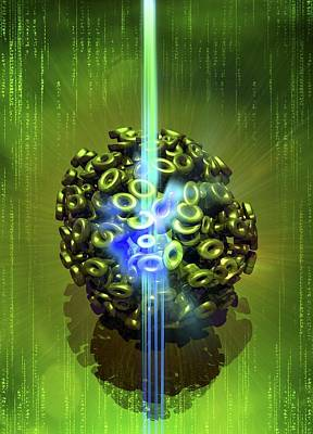 Computer Virus, Conceptual Artwork Poster by Victor Habbick Visions